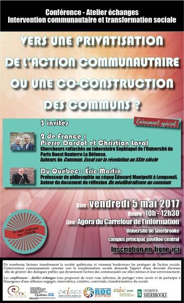 Conférence-atelier-échange : privatisation vs commun