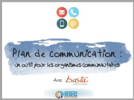 formation plan de communication : 29 mars (nouvelle date)