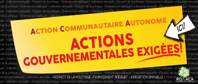 La Commission populaire du RQ-ACA en ESTRIE le 21 octobre prochain