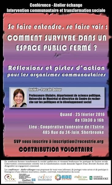 Atelier conférence échange 25 fev. 2016
