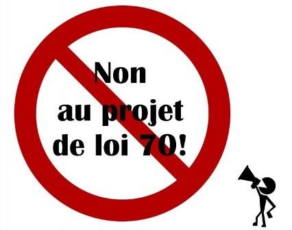 Manifestation NON au PL70