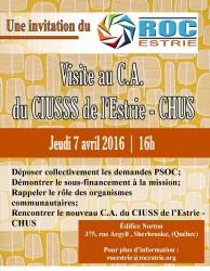 Visite au C.A du CIUSSS de l'Estrie-CHUS