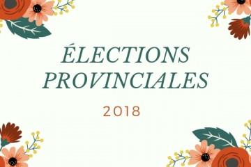 Élections provinciales 2018