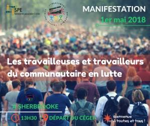 Le 1er mai: invitation à toutes et tous en soutien aux travailleuses et travailleurs du communautaire!