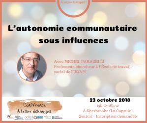 L'autonomie communautaire sous influences