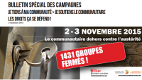Bulletin de campagne nationale 05/11/2015