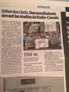 Voir la couverture médiatique au Québec