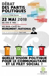 22 mai : débat politique - Quelle vision politique pour le communautaire et le filet social ?