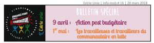 Info-MOB Estrie unie du 28/03/2018