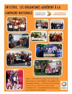 En Estrie, nous sommes nombreux à soutenir cette campagne et à y avoir renouvelé notre adhésion (photo)