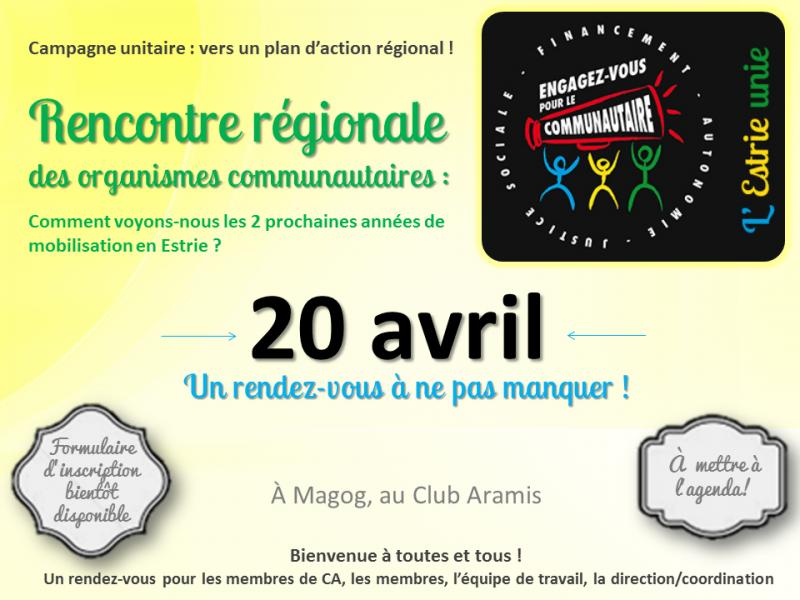 20 avril - rencontre régionale