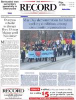 Première page du journal The Record (2 mai)