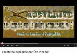 L'austérité expliquée par Éric Pinneault (octobre 2014)